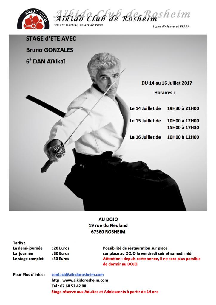 STAGE D'ETE AVEC BRUNO GONZALES @ Dojo de Rosheim   Rosheim   Grand Est   France