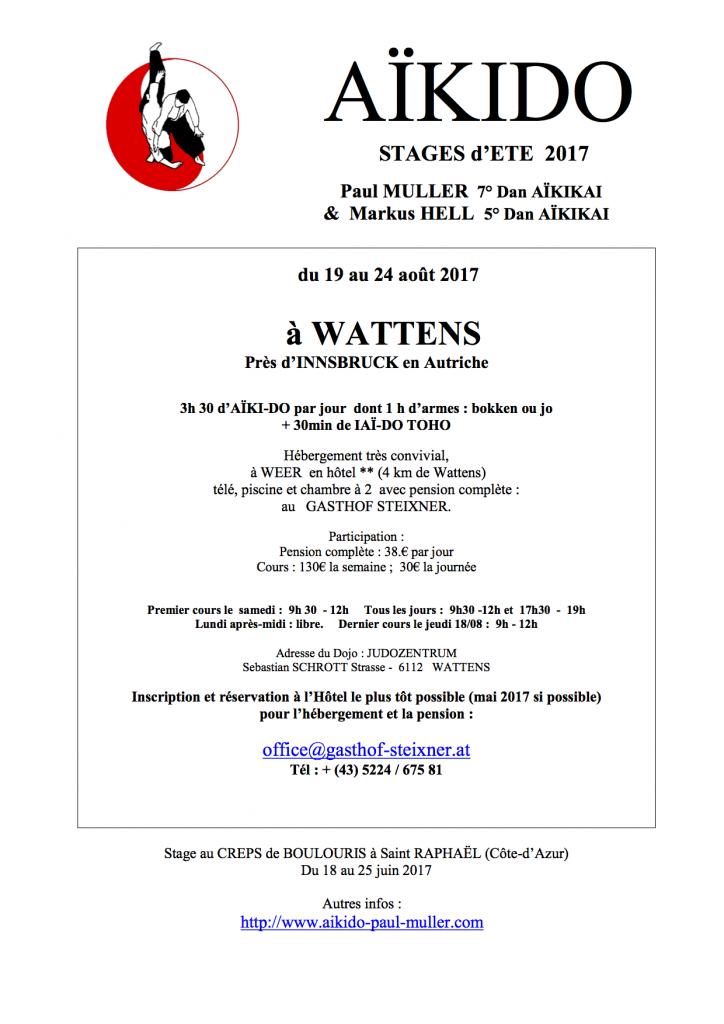 PAUL MULLER STAGE D'ETE A WATTENS @ Judozentrum | Wattens | Tirol | Autriche