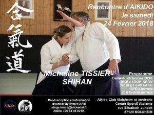 MICHELINE TISSIER SHIHAN STAGE D'AIKIDO A MOLSHEIM @ Centre sportif Atalante | Molsheim | Grand Est | France