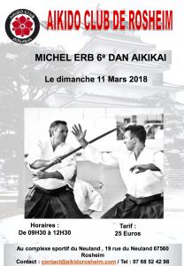 STAGE MICHEL ERB 11 MARS 2018 A ROSHEIM @ Complexe Sportif du Neuland, Rosheim | Rosheim | Grand Est | France