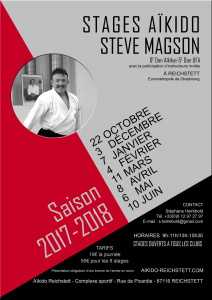 STAGE STEVE MAGSON A REICHSTETT @ Complexe sportif de Reichstett | Reichstett | Grand Est | France